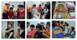 Hands-on session at LOHAS Meridian Self-Therapy Program