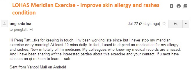 LOHAS Meridian helps skin allergy and rashes