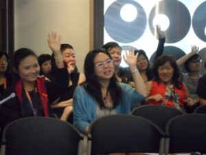Session start with fun and good laughter