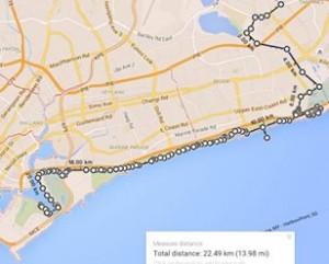 Tampines To Marina Barrage 43km