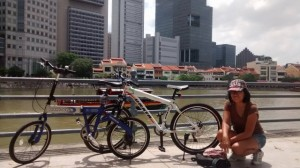 Cycling pass Raffles Place
